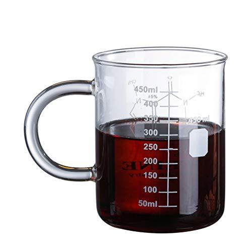 Koffeinbecher Tasse Graduated Becher Becher mit Henkel Borosilikatglas Becher Glas Messbecher Kaffee Messbecher Chemie Moleküle