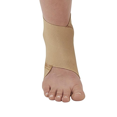 Ames Walker AW Figure 8 Elastic Ankle Support Beige Medium Figure 8 Design That Conforms to The Anatomy of The Ankle Joint Support for weakened Ankles Improve Circulation to Promote Healing