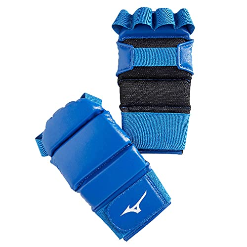 Mizuno Guantes Grappling Jujitsu, MMA, azul o rojo (XLarge, azul)