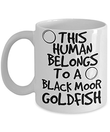 Black Moor Goldfish Mug - White 11oz Ceramic Tea Coffee Cup - Perfect For Travel And Gifts