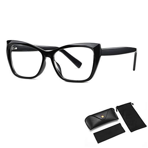HUALUWANG Gafas Anti-Azules, Gafas Anti-Azules, Gafas Profesionales Anti-Azules, Anti-Ultravioleta, Anti-Fatiga Ocular, Gafas con Montura Ligera Hombre/Mujer (Cristal)