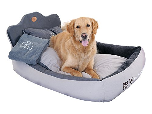 PLS Birdsong The Doggy Bed with Blanket, Bolster Dog Bed, Completely Washable