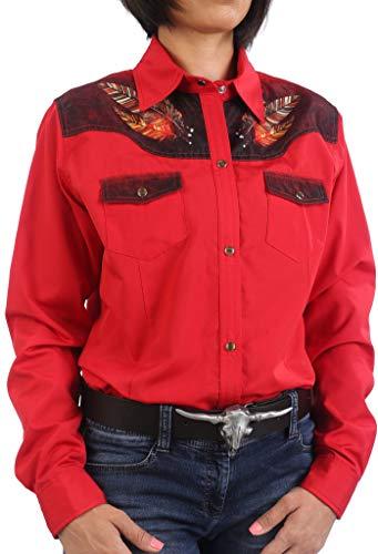 Last Rebels Country - Camisa para mujer, color rojo rojo L