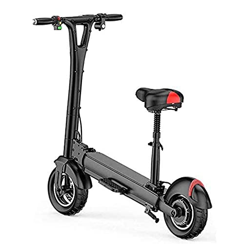 JAJU Scooter eléctrico Plegable, 10 Pulgadas 48V/500w, E-Scooter Plegable Pantalla LCD Batería de Iones de Litio de 10-18Ah Ultraligero, Scooter eléctrico para Adultos.