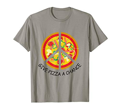 Give Pizza A Chance Pizzaliebhaber Pizzeria Essen Fast Food T-Shirt