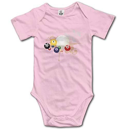 Klotr Unisex Baby Body Kurzarm Billiards Newborn Bodysuits Baumwolle Strampler Outfit Set