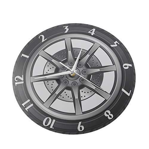 Homoyoyo Reloj Colgante de Llantas Relojes de Pared de Garaje Relojes de Pared Decorativos 3D para Hombres Sala de Estar