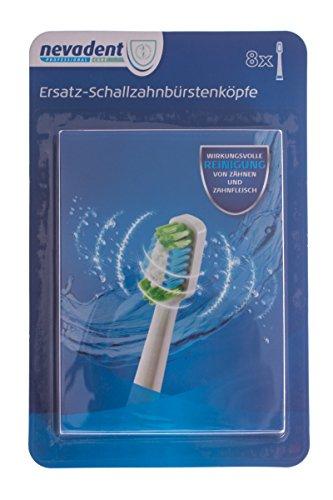 Nevadent® 8 Ersatz Schallzahnbürstenköpfe NSKS 8 A1