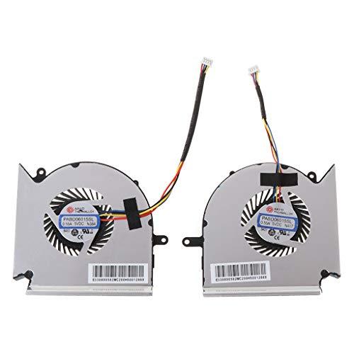 JOYKK 1Pair Laptop Koeling Ventilator Koeler Vervanging voor GE63VR MS-16P1 GE73VR MS-17C1 CPU en GPU Fan PAAD060105SL N383 N384 - Zilver