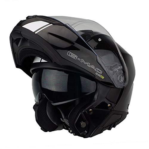 G-Mac Glide Evo Flip Front Motorcycle Helmet - Black, White