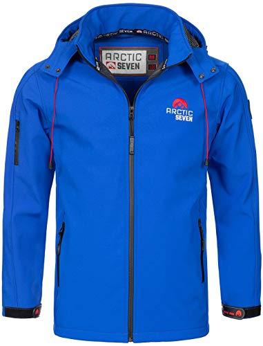 Arctic Seven Herren Designer Softshell Funktions Outdoor Regen Jacke Sport AS087 [AS-087-Blau-Gr.XL]