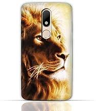 Motorola Moto M TPU Silicone Case with Lion Portrait Air Brush Pattern