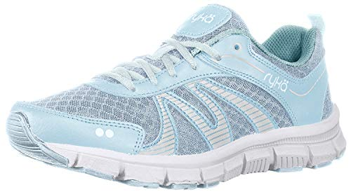 Ryka Womens Heather Walking Shoes 6.5 Soft Blue