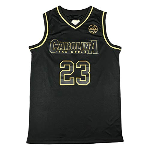 XXJJ Jordan Throwback Camiseta de baloncesto # 23, North Carolina Fans Ropa Unisex sin mangas Bordado Deportes Camisas (S-XXL) Negro-XL