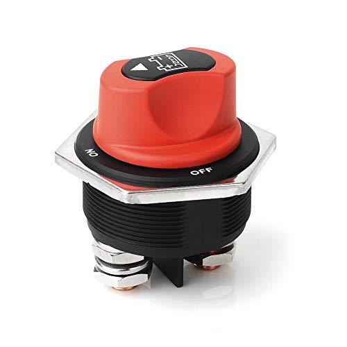 Jtron 300a Batterieschalter motorrad 12V an-aus 2P SPST Auto Mini Batterie Wahlschalterbatterieschalter trennschalter kfz für Auto Boot (300A)