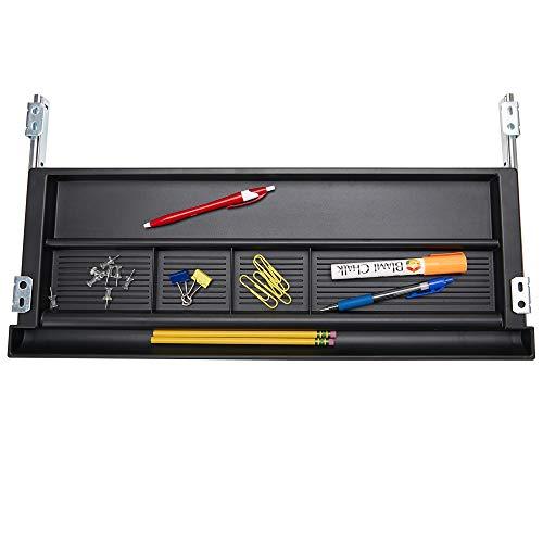 Mind Reader KEYBCON-BLK Desk Supplies, Ergonomic Computer Platform, Adjustable Drawer Organizer, Black