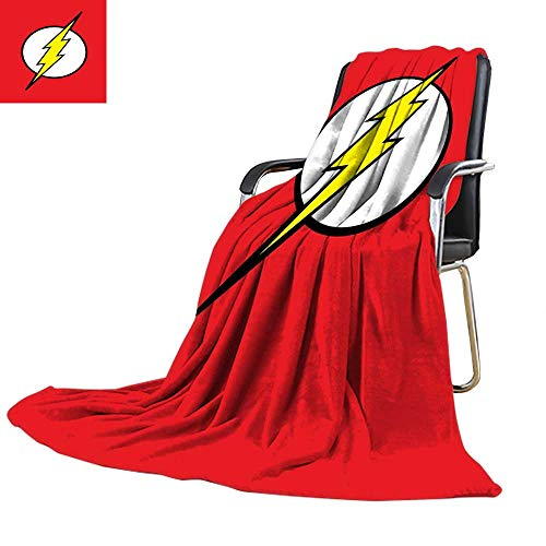 Cool Blanket,Marvel, DC Justice League Super The Flash Pattern 60' x 80',300GSM, Super Soft and Warm, Durable.