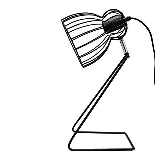 Rebecca Mobili Abat-Jour Noir Style nordique, Lampe de Chevet pour Chambre, Metal, Ampoule E14 Max 25 W - Cable 150 cm - 38 x 25 x 15 cm (HxLxL) - Art. RE6270