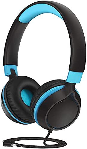 Kinder Kopfhörer, Kopfhörer Kinder mit 94 dB Lautstärkebegrenzung, Kabelkopfhörer für Jugendliche,Faltbar, Einstellbar, für Schule,Reise, Kompatibel mit Handys, Tablets, PC, Laptop