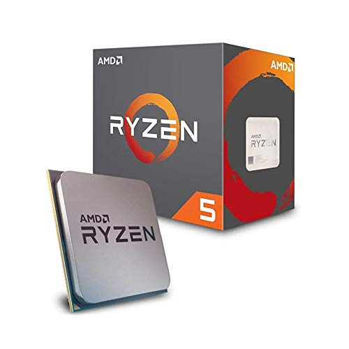 AMD Ryzen 5 2600X processor (basisklok: 3,6 Hz, 6 coren, socket AM4). Processor. Ryzen 5 2600X zwart