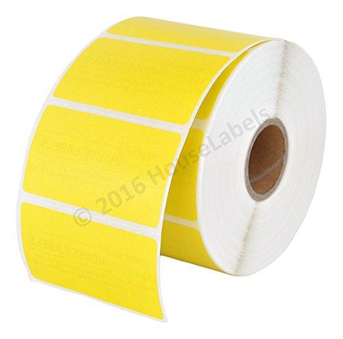 "Zebra/Eltron Compatible 2.25"" x 1.25"" Yellow Direct Thermal Labels - SIX (6) Rolls; 1,000 per Roll - 2.25 x 1.25 Labels (2-1/4"" x 1-1/4"") - BPA Free!"