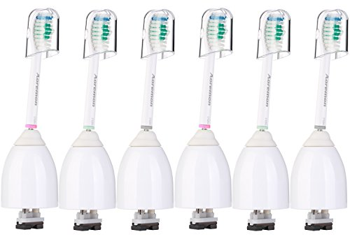 Price comparison product image Aoremon Replacement Brush Heads Compatible with Phillips Sonicare E-Series HX7001(6 Pack),  Essence,  Xtreme,  Elite,  Advance,  and CleanCare Electric Toothbrush with Caps