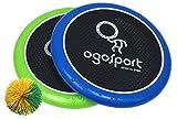 Schildkröt 970198 Lot de 2 disques Souples Ogo Ø 29 cm, Vert Citron et Bleu, 1 Balle, Taille Standard, Nouvelle Couleur, Le Grand Classique de Jeu Populaire