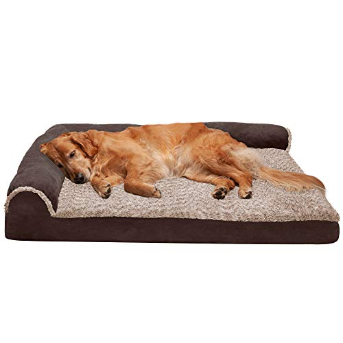 Available in Multiple Colors /& Styles Orthopedic L Shaped Chaise Lounge Sofa-Style Living Room Corner Couch Pet Bed w// Removable Cover for Dogs /& Cats Furhaven Pet Dog Bed