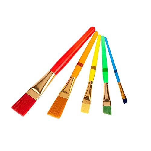 Jklt Ensemble de Pinceaux Couleur Plastique Rod Set Brosse for Enfants for Huile Aquarelle Peinture Peinture Acrylique Facile à Nettoyer et Pratique (Couleur : Multi-Colored, Size : Free Size)