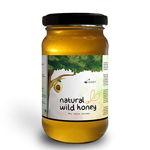Hi Honey Raw Organic Wild Honey by Saurashtra Honey Bee Farm| an Ayurvedic Remedy for Weight Loss, Cough and Digestive Problems...