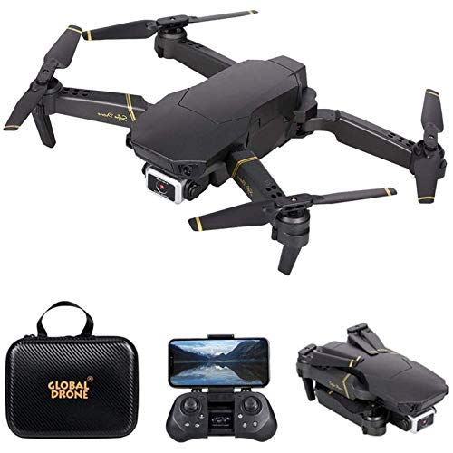 KLJJQAQ RC Drone with 4K HD Camera for Adults, Foldable RC Quadcopter with 3D Flip, Avoidance, Track Flight, Altitude Hold, Headless Mode, Includes Carrying Bag,1 Battery