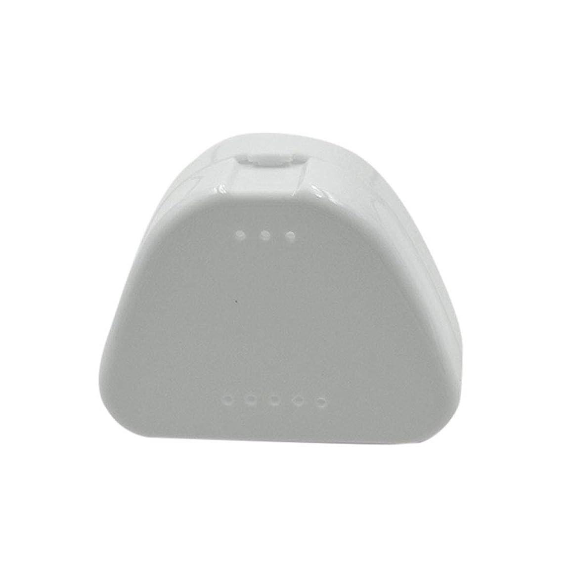 悲しい目に見える不毛SUPVOX 4PCS保持ケース旅行義歯マウスガード収納ケースコンテナ通気孔とスナップ蓋(青、白、赤と透明)