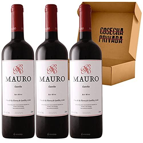 Mauro Vino Tinto - Envío Gratis 24 H - Pack 3 botellas - Seleccionado y enviado por Cosecha Privada - Estuche regalo de vino