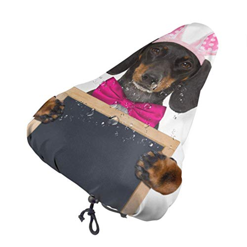 MOLLUDY Bike Seat Cover Bike Saddle Covers Waterproof and dustproof Seat Saddle Dachshund Sausage Dog Bunny Easter Ears 27 * 369 cm