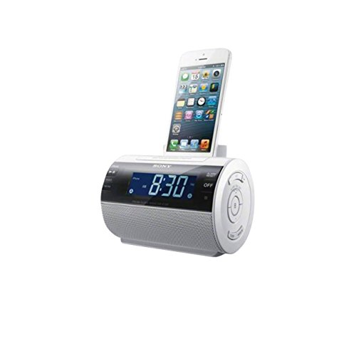 Sony ICFC11IPW.CED Uhrenradio mit Dockingstation für Apple iPod/iPhone weiß