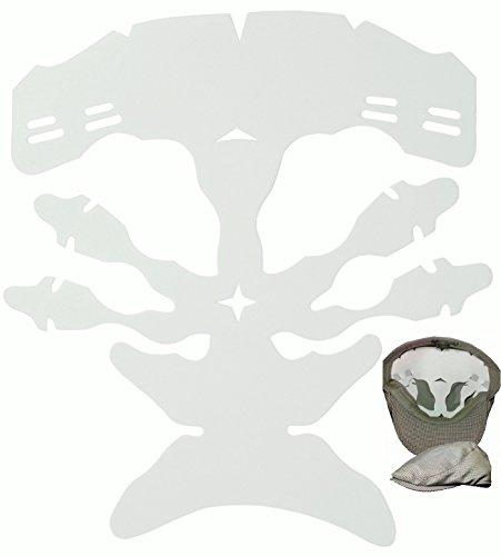 1Pk. Flat Cap Web Shaper for Ivy hat  Newsboy caps Shaper  Driver's Cap Dome Panel Inserts  Golfer's Hats Shaper (White)