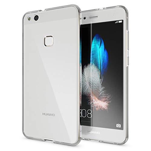TBOC Funda para Huawei P10 Lite (5.2') - Carcasa [Transparente] Completa [Silicona TPU] Doble Cara [360 Grados] Protección Integral Total Delantera Trasera Lateral Móvil Resistente Golpes