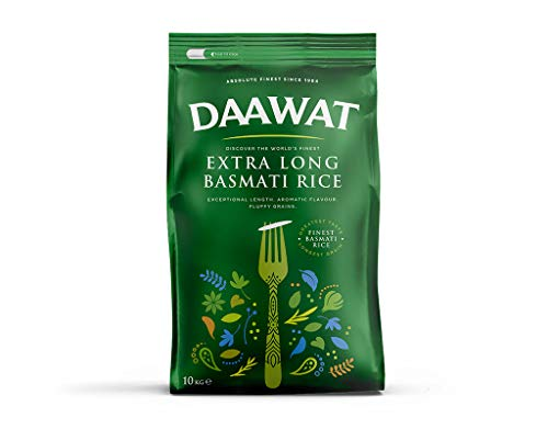 Daawat - 10kg Basmatireis (extralange Körner) / Extra Long Basmati Rice