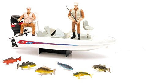 New Ray Wild Hunting Boat Fishing Playset
