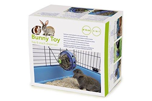 Nobby 25362 Bunny Toy Ø 16 cm, blau-schwarz