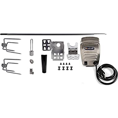 OneGrill Heavy Duty Universal Grill Rotisserie Kit- 45'' X 1/2'' Hexagon Spit Rod & 50 lb. Stainless Electric Motor (Grills Up To 39 )