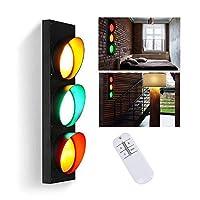 産業用LED信号機 、交通 信号ライトリモコン付き3色装飾壁ランプ警告灯、3 * 5W省エネ、設置が簡単