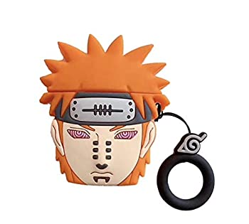 Airpods Case,Airpods Payne Case,Naruto Cartoon Characters Reincarnation Eyes - Payne Case for Apple Airpods 1&2,Airpods Accessories Silicone Cover and Skin for Apple Airpods Charging Case  Pain