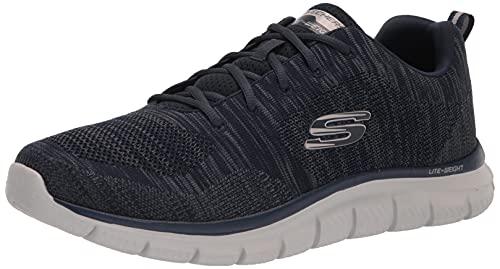Skechers Herren Men's Track Front Runner Lace-up Sneaker Oxford, Marineblau/Grau, 46 EU