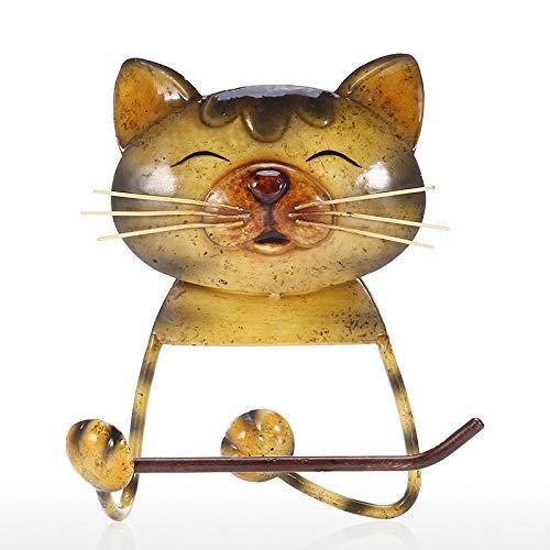 Ctzrzyt Porta Asciugamani di Carta per Gatti Porta Carta Igienica Vintage nel Ghisa per Cani Porta Asciugamani nel Piedi per Bagno