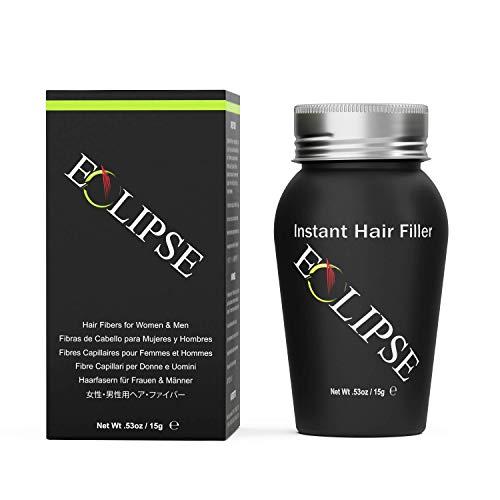 Eclipse Hair Building Fibers & Beard Filler - Instant Hair Fillers Thinning Hair, Beard & Partial Hair Loss  Suitable for All Hair Types - Hair Loss Concealer for Men & Women - 15 Gram - Medium Bro