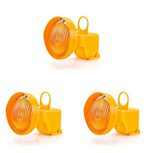 UvV CONY Synchron Leitkegel Aufsteck Warnleuchte Blinkleuchte gelb inkl. Batterien (3)