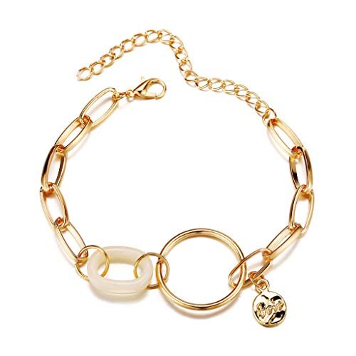 Vintage Geometric Circle Bracelet Fashion Bangles Jewellery Gift for Women Best Girls for Firend
