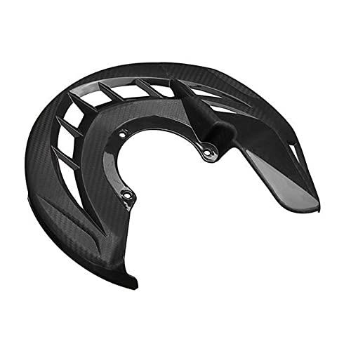DANFENG Ajuste para Yamaha Motorcycle Front Freno Discot Rotor Guard Cubierta Protector Motocross Bellamente Decorado y más Atractivo (Color : Black)