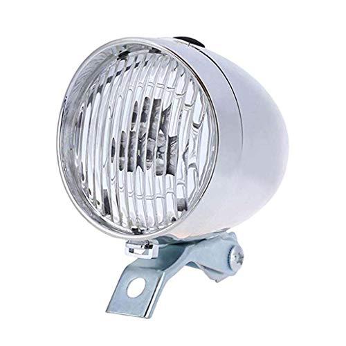 M-JJZX Fahrradlichter LED Vintage Retro Retro Klassische Fahrrad Frontlichter Lampe Fahrrad Ligh Radfahren Zubehör (Color : Silver)